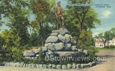 Captain Parker Statue - Lexington, Massachusetts MA Postcard