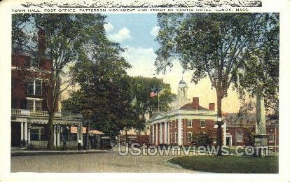 Town Hall, Post Office - Lexington, Massachusetts MA Postcard