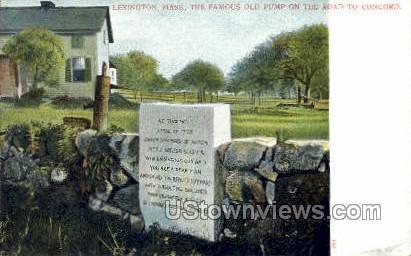 The Famous Old Pump - Lexington, Massachusetts MA Postcard