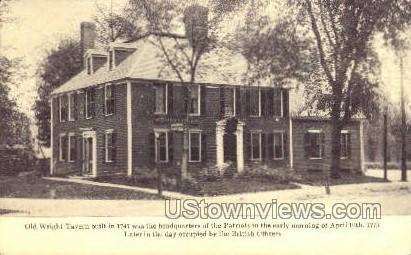 Old Wright Tavern - Lexington, Massachusetts MA Postcard