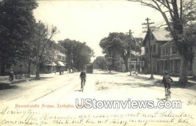 Massachusetts Ave. - Lexington Postcard