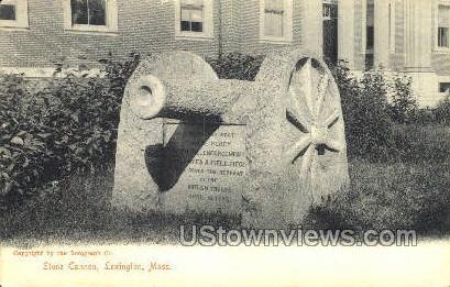Stone Cannon - Lexington, Massachusetts MA Postcard