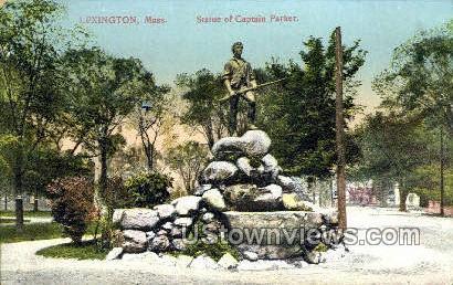 Statue of Captain Parker - Lexington, Massachusetts MA Postcard
