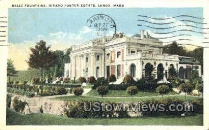 Girard Foster Estate - Lenox, Massachusetts MA Postcard