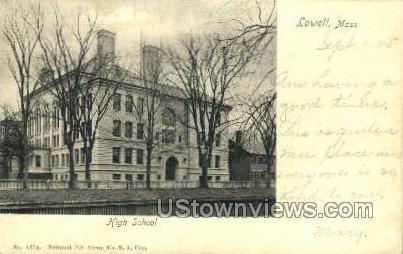 High School - Lowell, Massachusetts MA Postcard