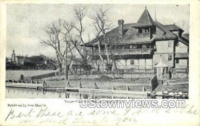Vesper Club Boat House - Lowell, Massachusetts MA Postcard