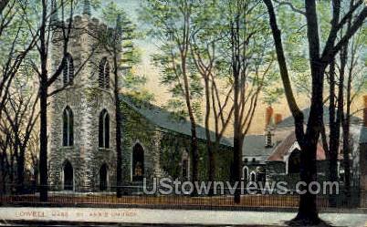 St. Ann's Church - Lowell, Massachusetts MA Postcard