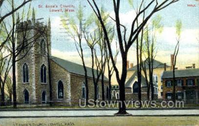 St .Anne's Church - Lowell, Massachusetts MA Postcard