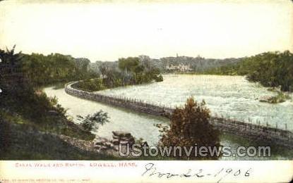 Canal Walk & Rapids - Lowell, Massachusetts MA Postcard