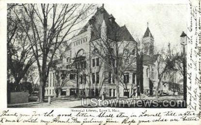 Memorial Library - Lowell, Massachusetts MA Postcard