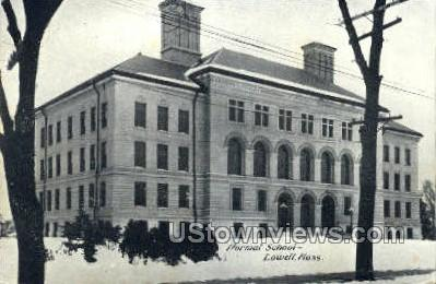Normal School - Lowell, Massachusetts MA Postcard