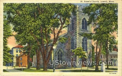 St. Anne's Church - Lowell, Massachusetts MA Postcard