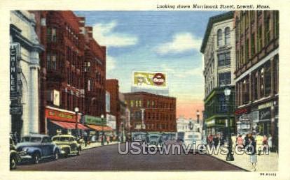 Merrimack St. - Lowell, Massachusetts MA Postcard