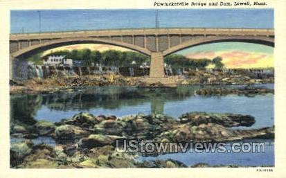 Pawtucketville Bridge  - Lowell, Massachusetts MA Postcard