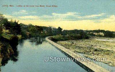 Canal - Lowell, Massachusetts MA Postcard
