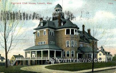 highland Club House - Lowell, Massachusetts MA Postcard