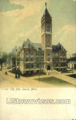 City Hall - Lowell, Massachusetts MA Postcard