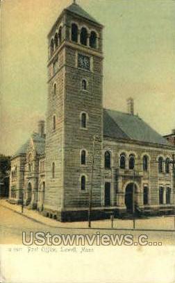 Post Office - Lowell, Massachusetts MA Postcard