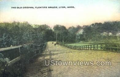 The Old Original Floating Bridge - Lynn, Massachusetts MA Postcard