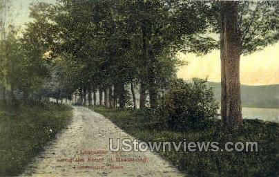 Lancaster Ave. - Lunenburg, Massachusetts MA Postcard