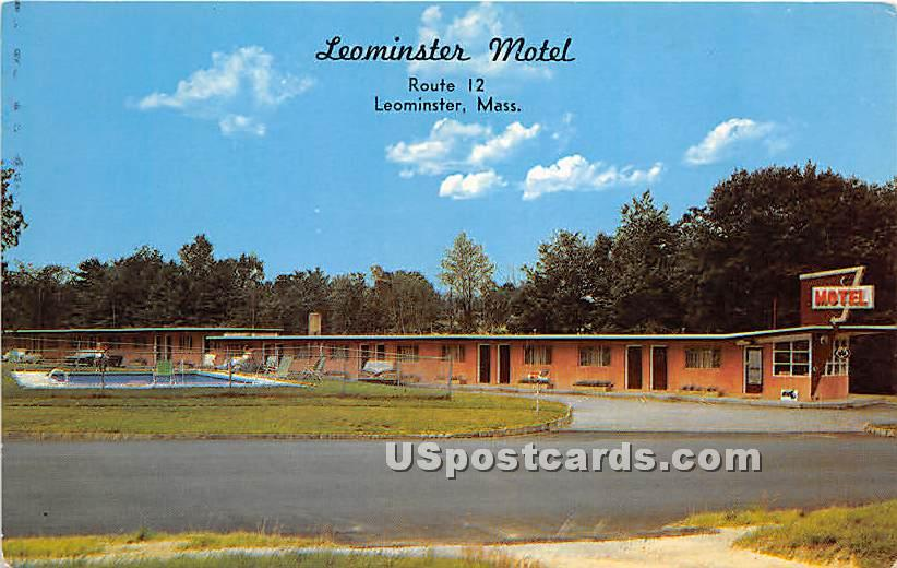 Leominster Motel - Massachusetts MA Postcard