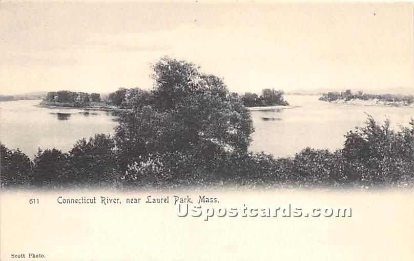 Connecticut River - Laurel Park, Massachusetts MA Postcard