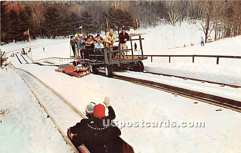Tobogganing at Eastover - Lenox, Massachusetts MA Postcard