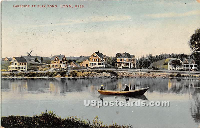 Lakeside at Flax Pond - Lynn, Massachusetts MA Postcard