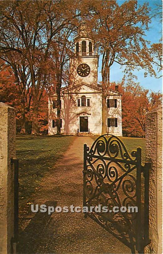 The Gate to the Church on the Hill Lenox - Massachusetts MA Postcard