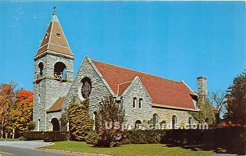 Stone Trinity Church - Lenox, Massachusetts MA Postcard