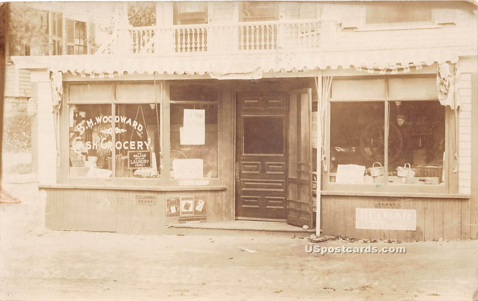 BW Woodward Cash Grocery - Leominster, Massachusetts MA Postcard