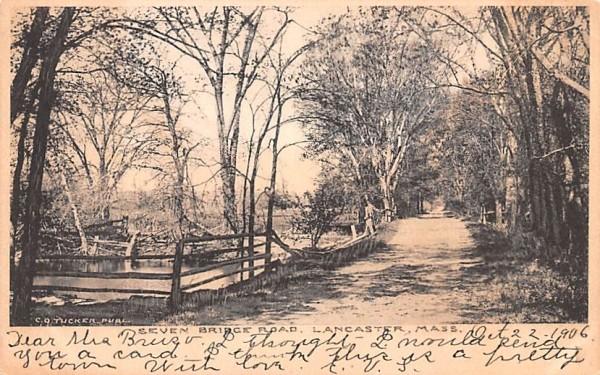 Seven Bridge RoadLancaster, Massachusetts Postcard