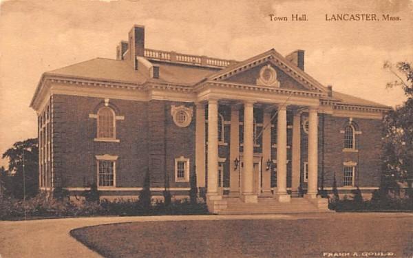 Town HallLancaster, Massachusetts Postcard