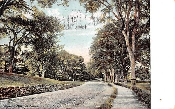Street SceneLancaster, Massachusetts Postcard
