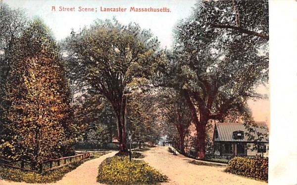 A Street SceneLancaster, Massachusetts Postcard