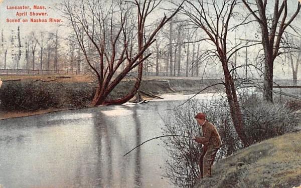 Scene on Nashua RiverLancaster, Massachusetts Postcard