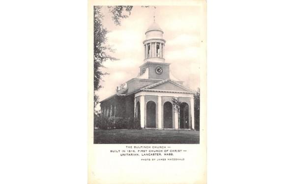 The Bulfinch ChurchLancaster, Massachusetts Postcard