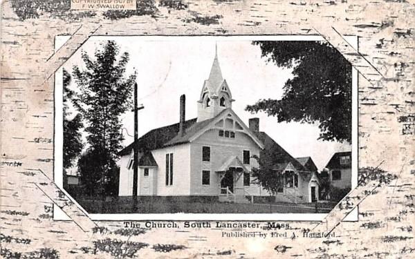 The Church Lancaster, Massachusetts Postcard