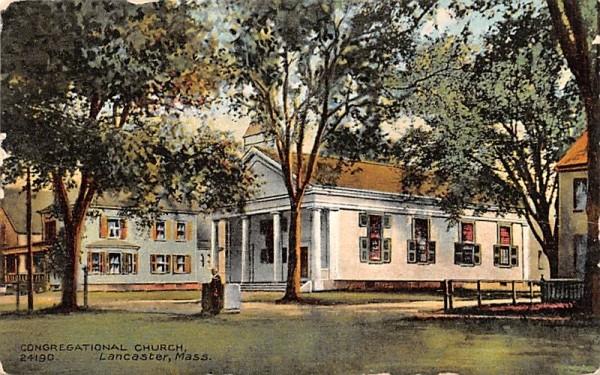 Congregationl ChurchLancaster, Massachusetts Postcard
