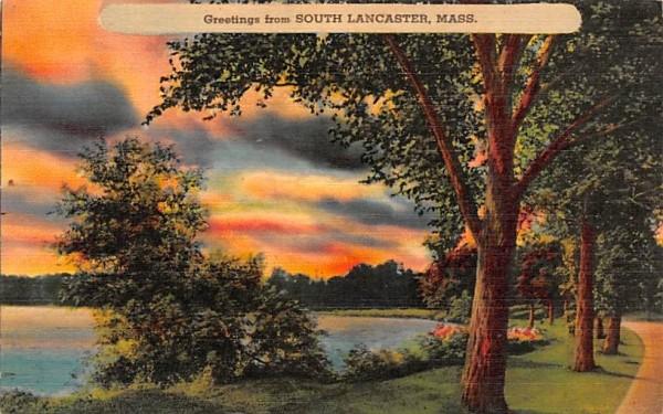 Greetings from S. Lancaster Massachusetts Postcard