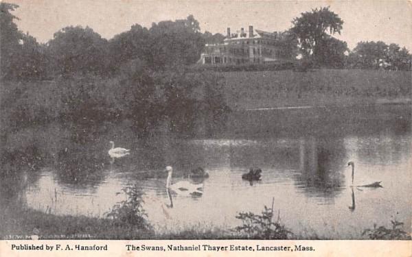 Nathaniel Thayer EstateLancaster, Massachusetts Postcard