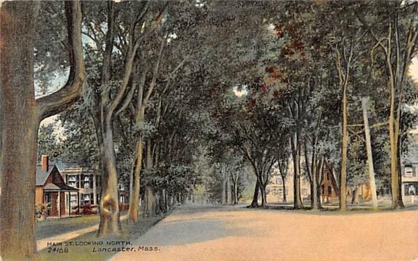 Main Street Lancaster, Massachusetts Postcard