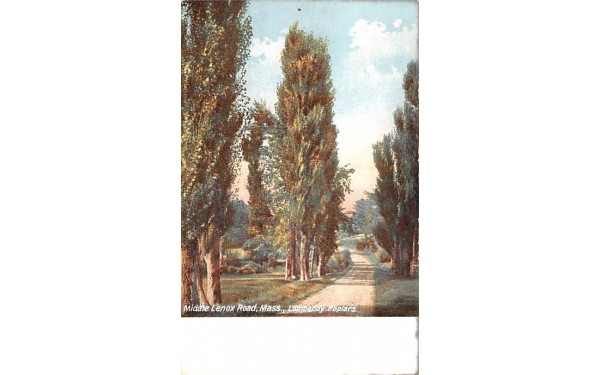 Middle Lenox Road Massachusetts Postcard