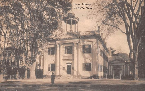 Lenox Library Massachusetts Postcard