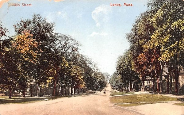 Main Street Lenox, Massachusetts Postcard