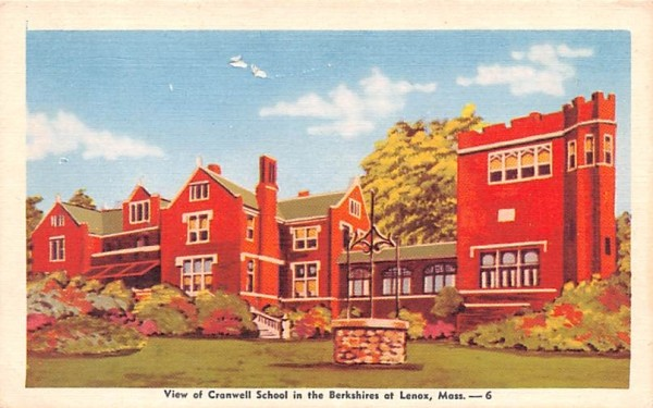 View of Cranwell SchoolLenox, Massachusetts Postcard