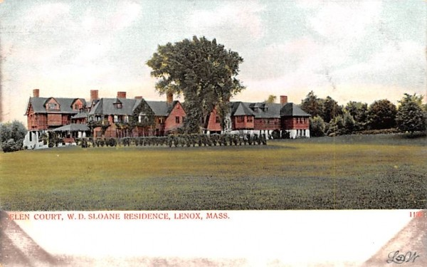 Elen CourtLenox, Massachusetts Postcard