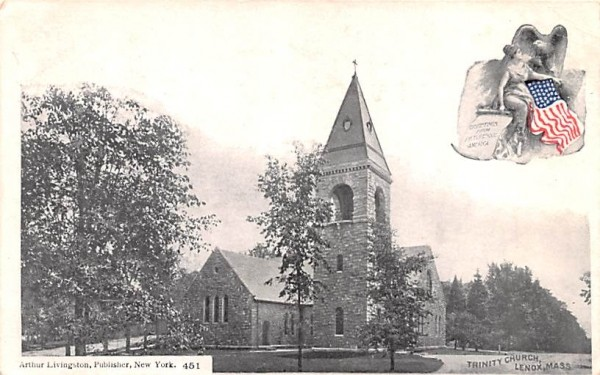 Trinity ChurchLenox, Massachusetts Postcard