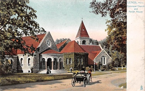Episcopal Church & Parish HouseLenox, Massachusetts Postcard