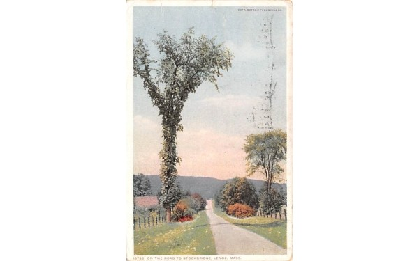 On The Road to StockbridgeLenox, Massachusetts Postcard